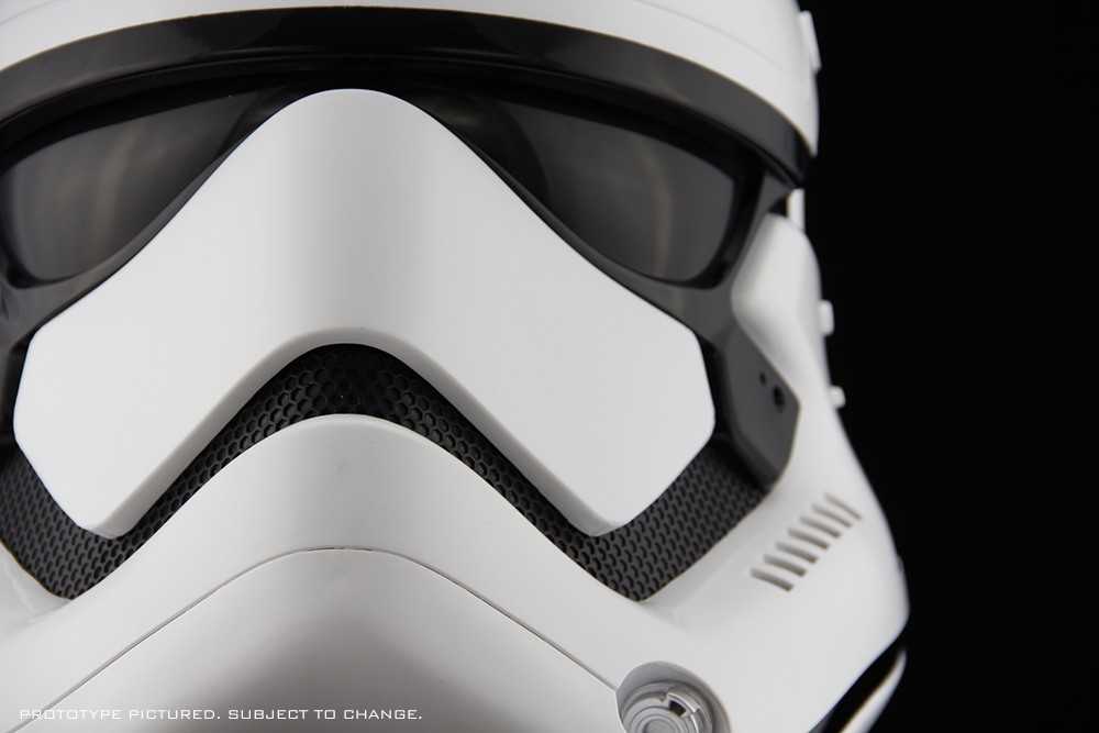 Top off your collection with the Star Wars: The Force Awakens Stormtrooper Helmet.