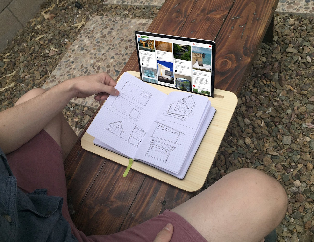 Tab LapDesk for Tablets and Smartphones by iSkelter