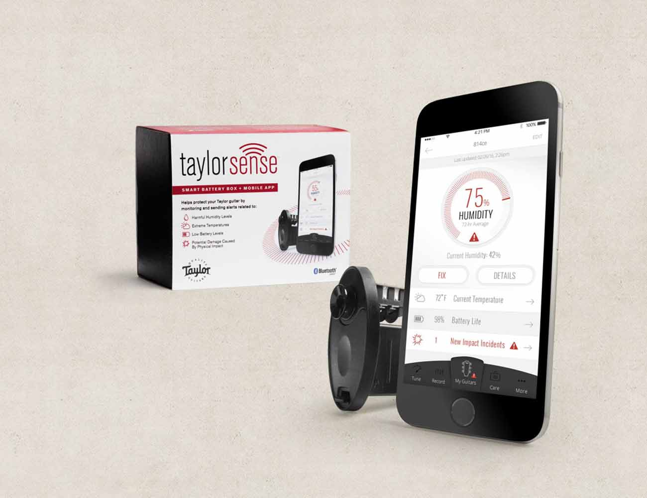 TaylorSense Guitar Health Monitoring System