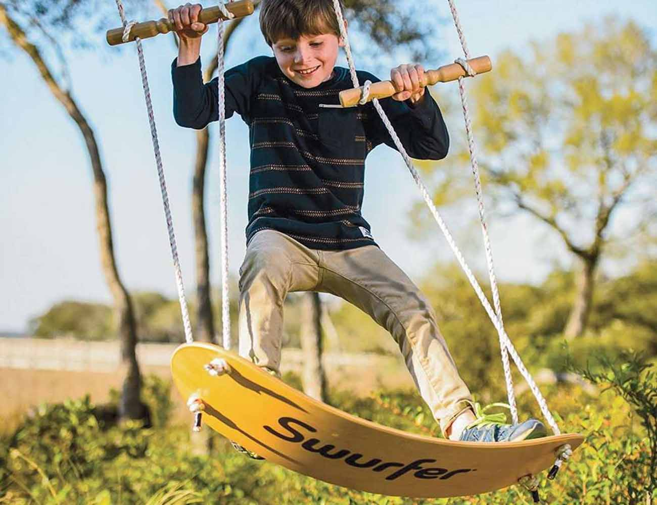 The Swurfer – The Tree Swing Surfboard