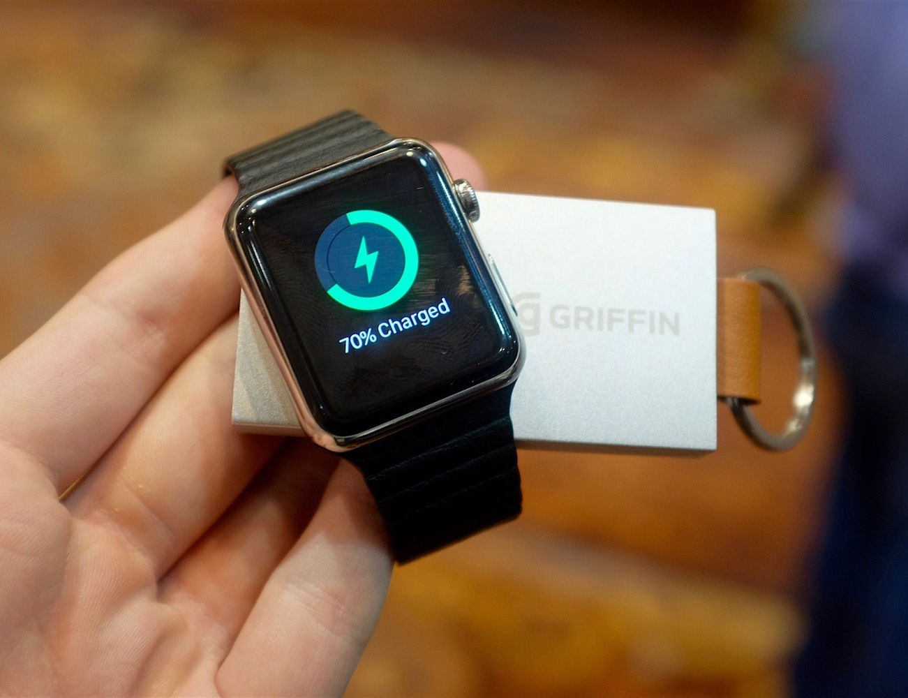 Travel Power Bank by Griffin – Keychain Sized External Battery For Apple Watch