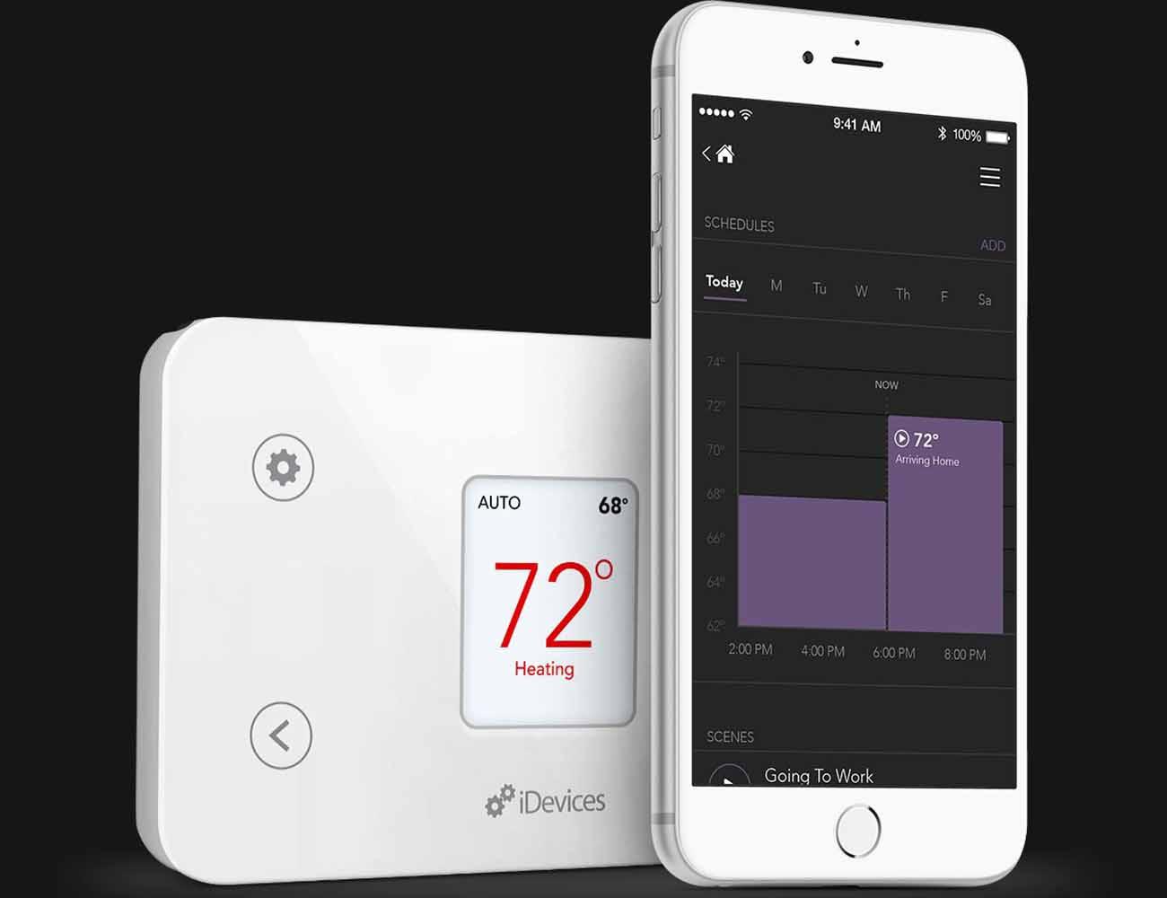 idevices smart home thermostat gadget flow. Black Bedroom Furniture Sets. Home Design Ideas
