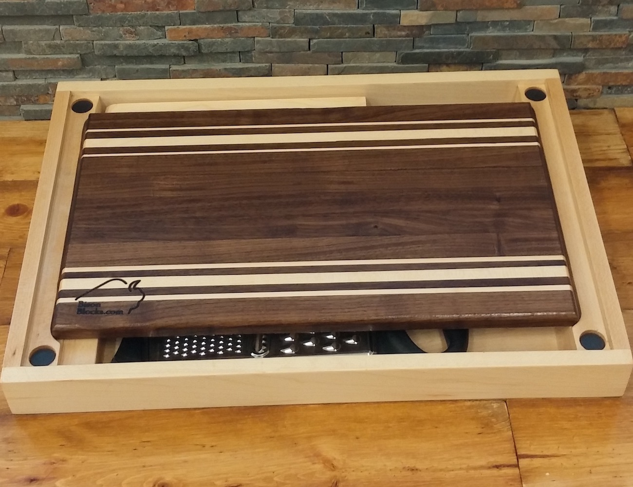 """BisonBlock's """"Perfectly Practical"""" All-in-One Chopping Block"""