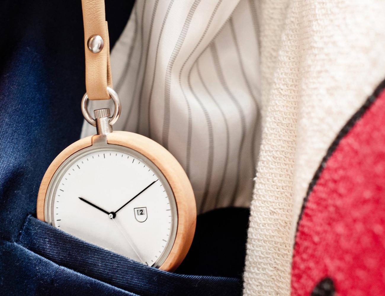 Calendar Maple Pocket Watch by MMT