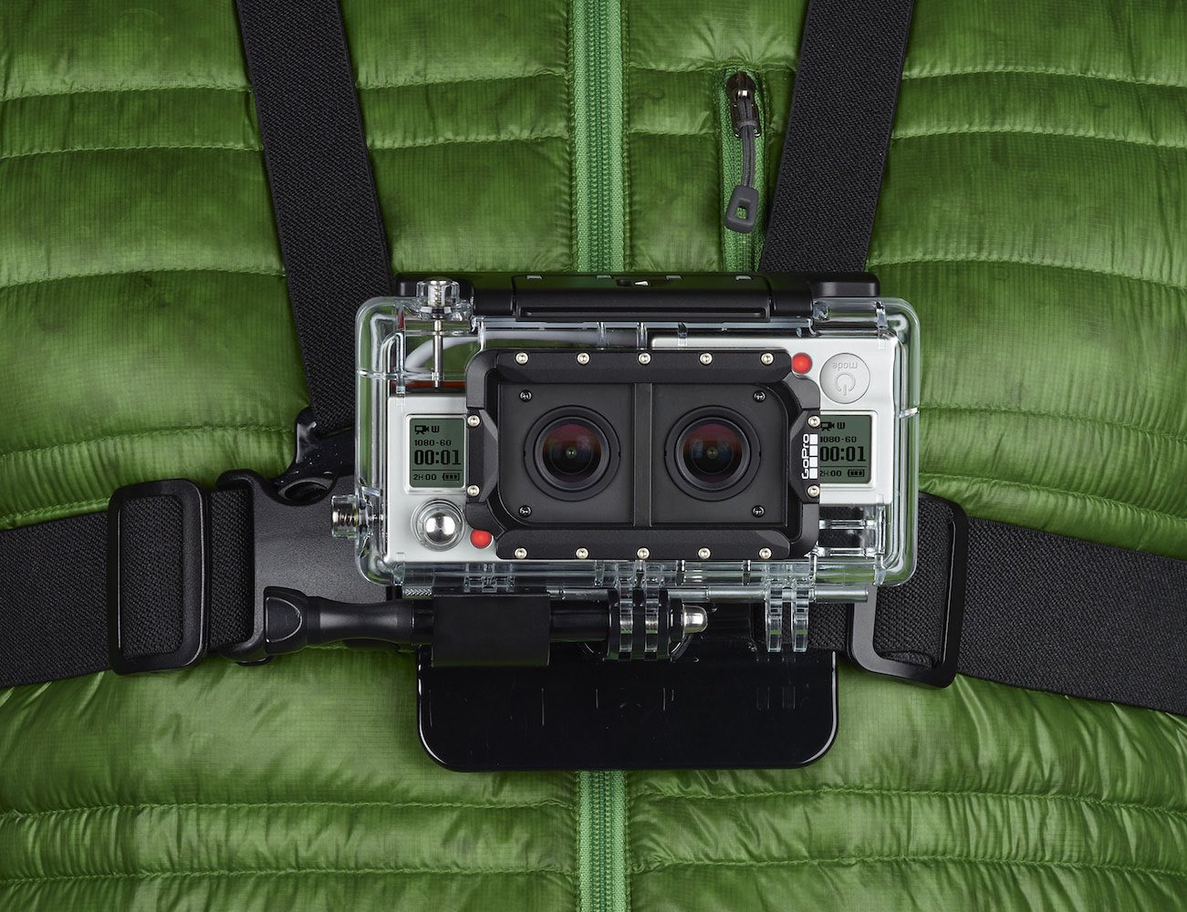 Dual Housing System for GoPro Hero3+