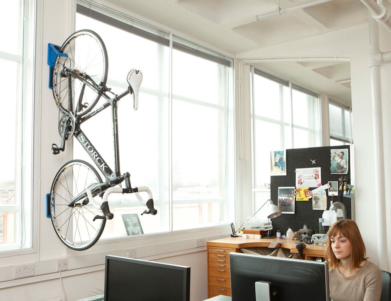 Endo Fold Flat Vertical Bike Storage System by Cycloc