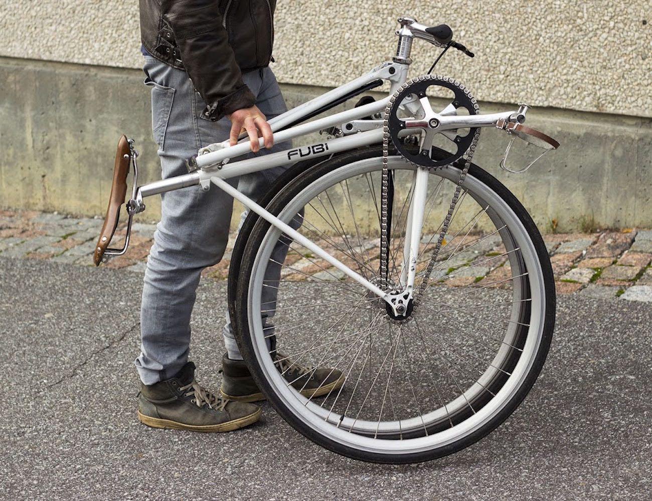fubi fixie transform your bike into a folding bike review. Black Bedroom Furniture Sets. Home Design Ideas