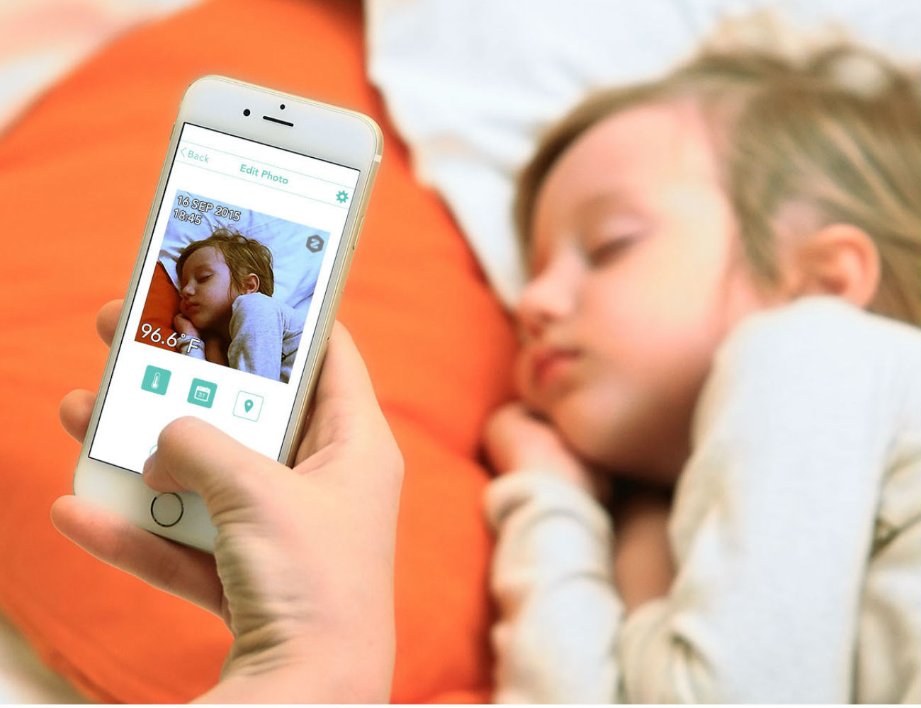 Flo Non-Contact Smart Thermometer by Zeraph