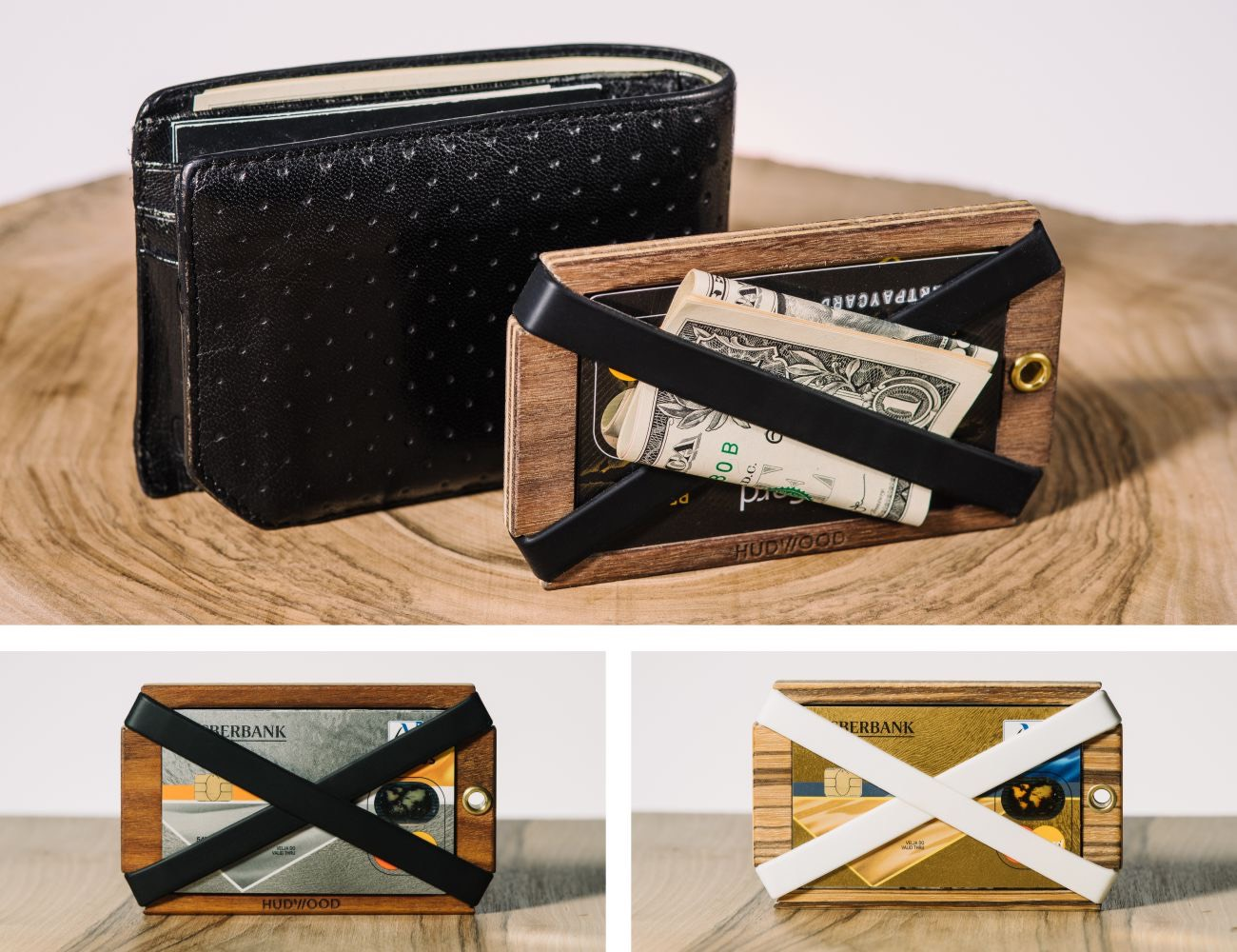 Hudwood – Wooden Carabiners And Wallet