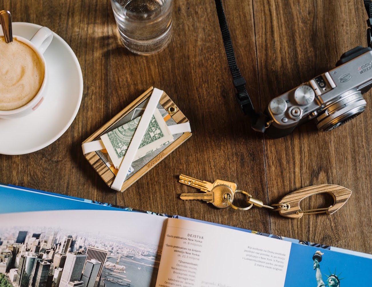 Hudwood+%26%238211%3B+Wooden+Carabiners+And+Wallet