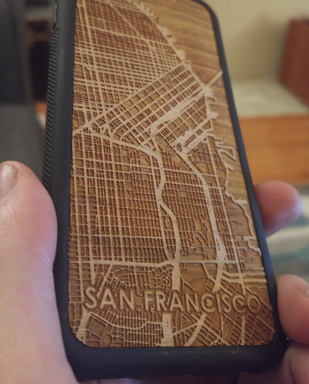 Laser Etched City Street Map iPhone Cases