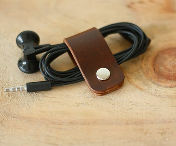 Leather Headphone Clip by