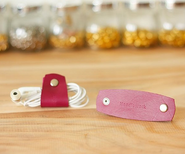 Leather Headphone Clip by Peiliee Workshop