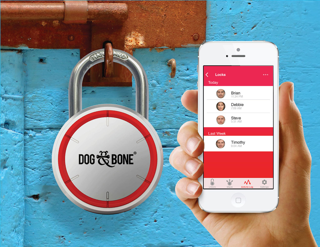 LockSmart Bluetooth Padlock by Dog & Bone