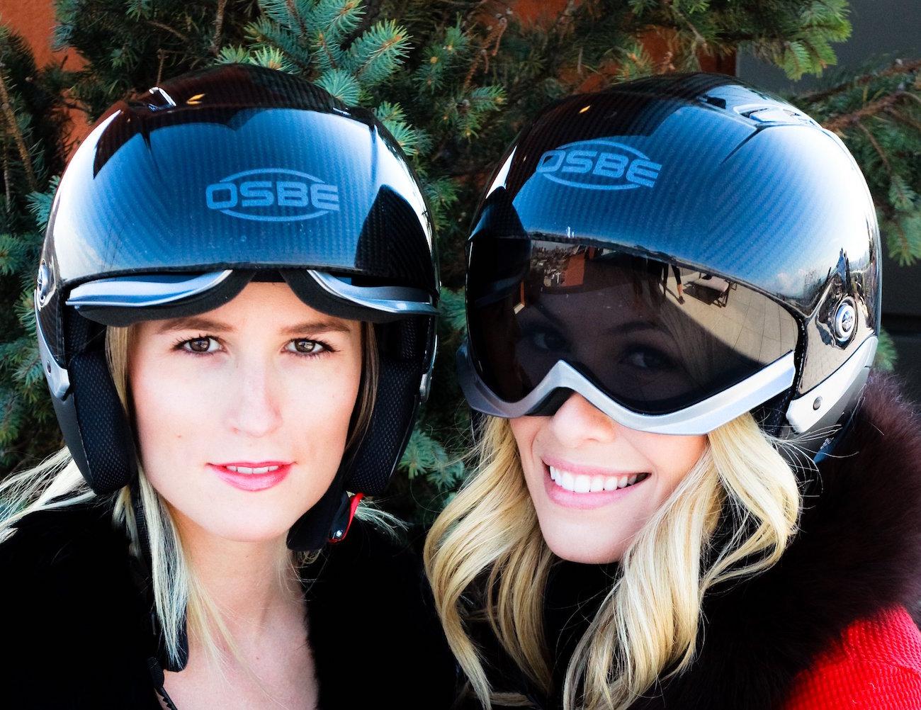 Majic Ski/Snowboard Helmet With an Integrated Visor by Osbe