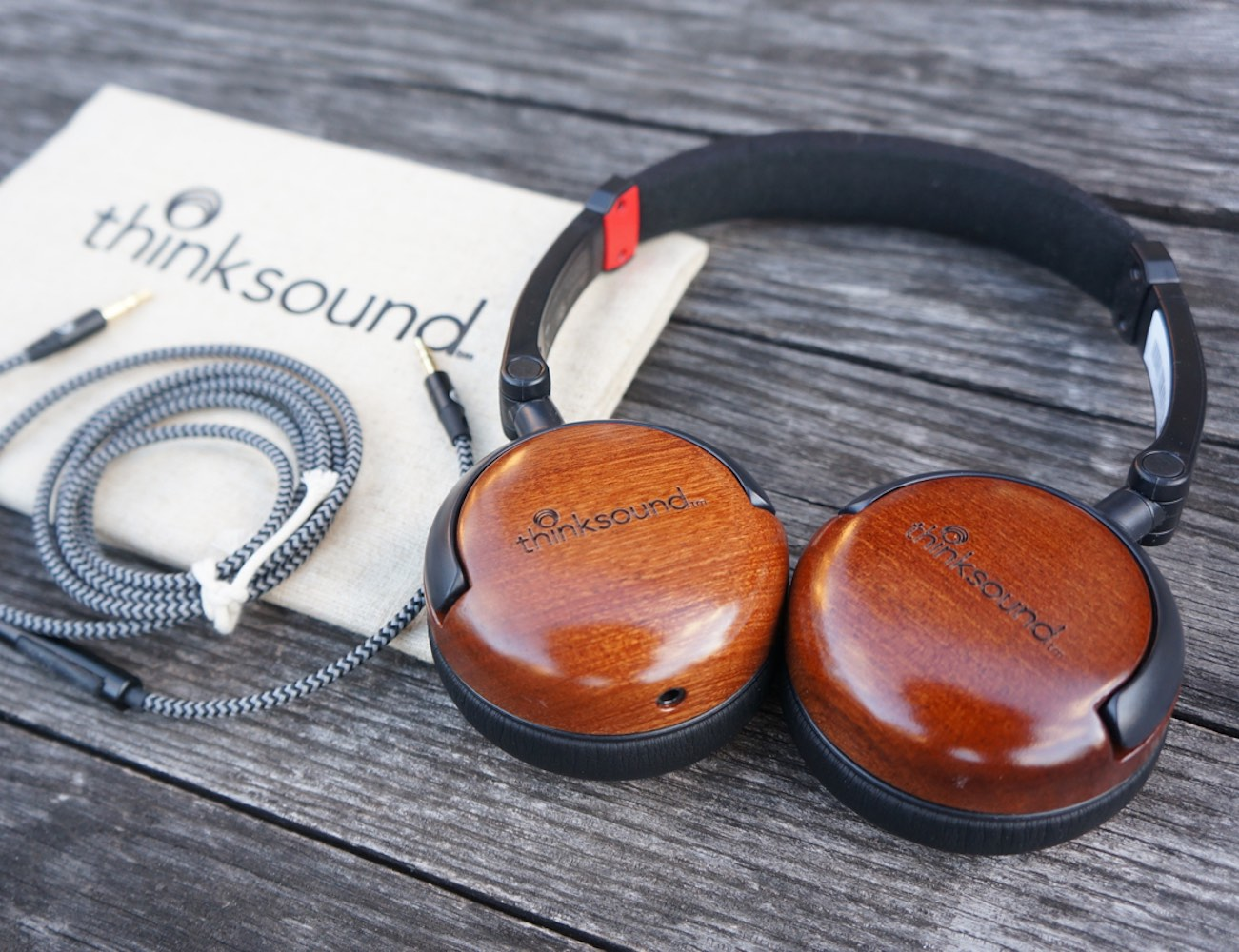On1 by Thinksound – Supra-Aural On-Ear Monitor Wooden Headphone