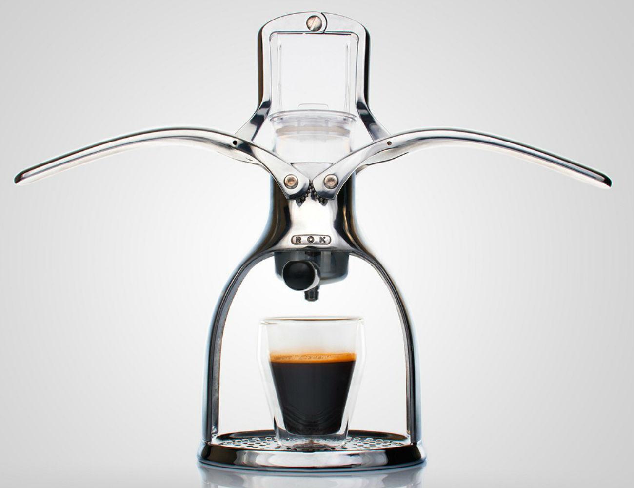 Manual Coffee Maker ~ Rok espresso maker with a manual non electric design