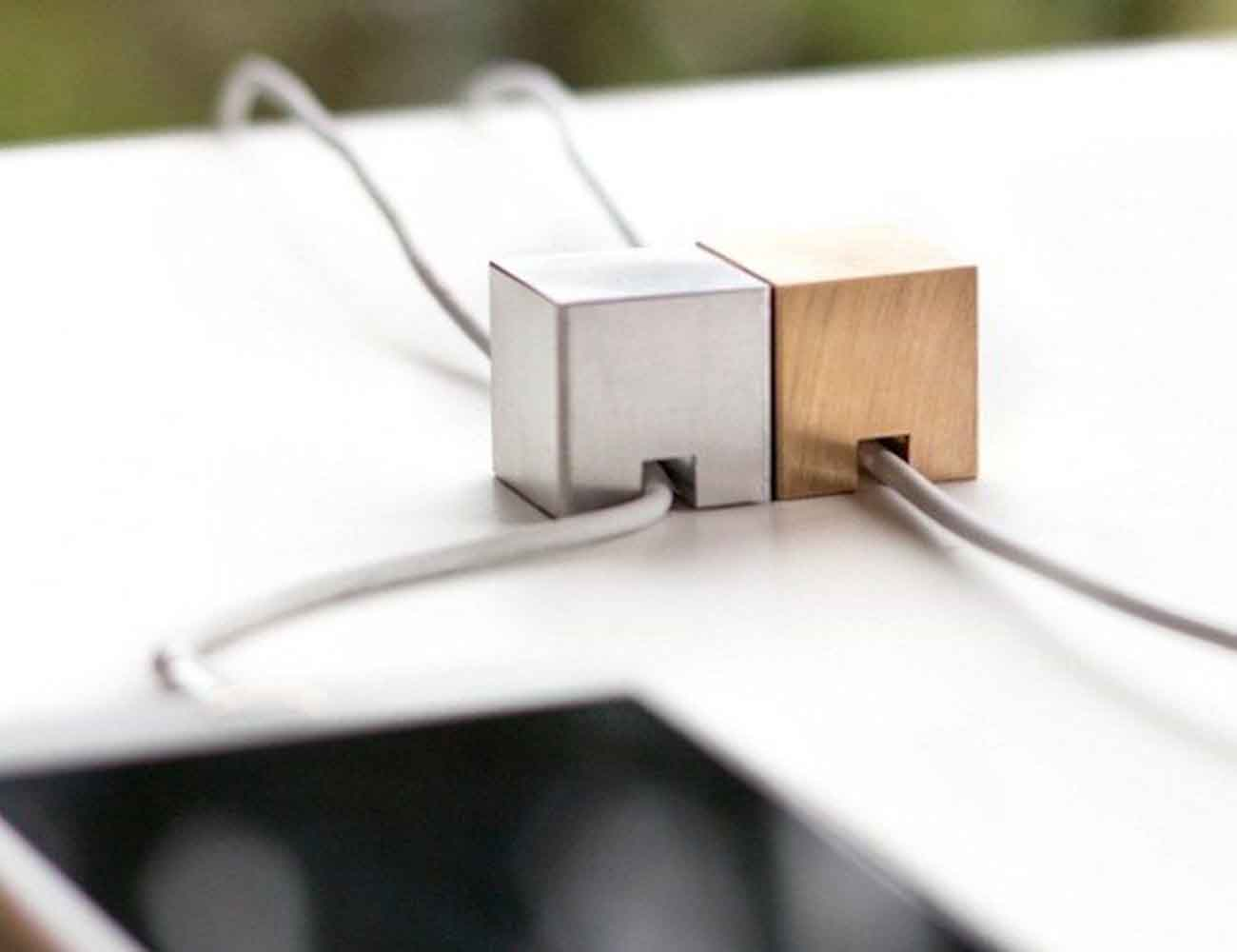Stacks Metal Cube Desk Accessories Organizer