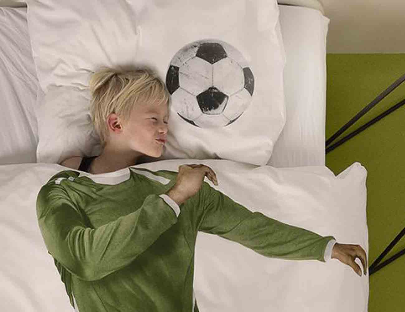 Soccer Champ Duvet Cover by Snurk