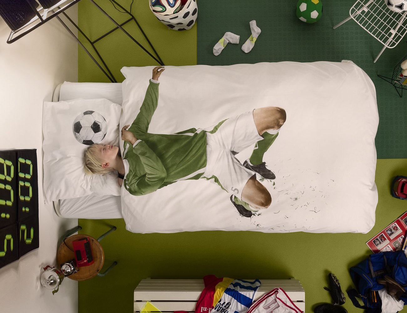 Soccer Champ Duvet Cover by Snurk