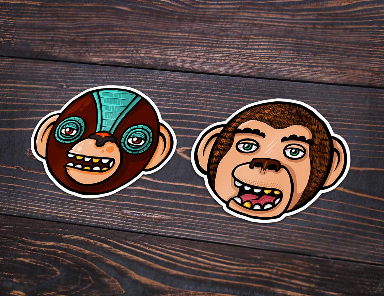 The+Monkey+Clan+Stickers