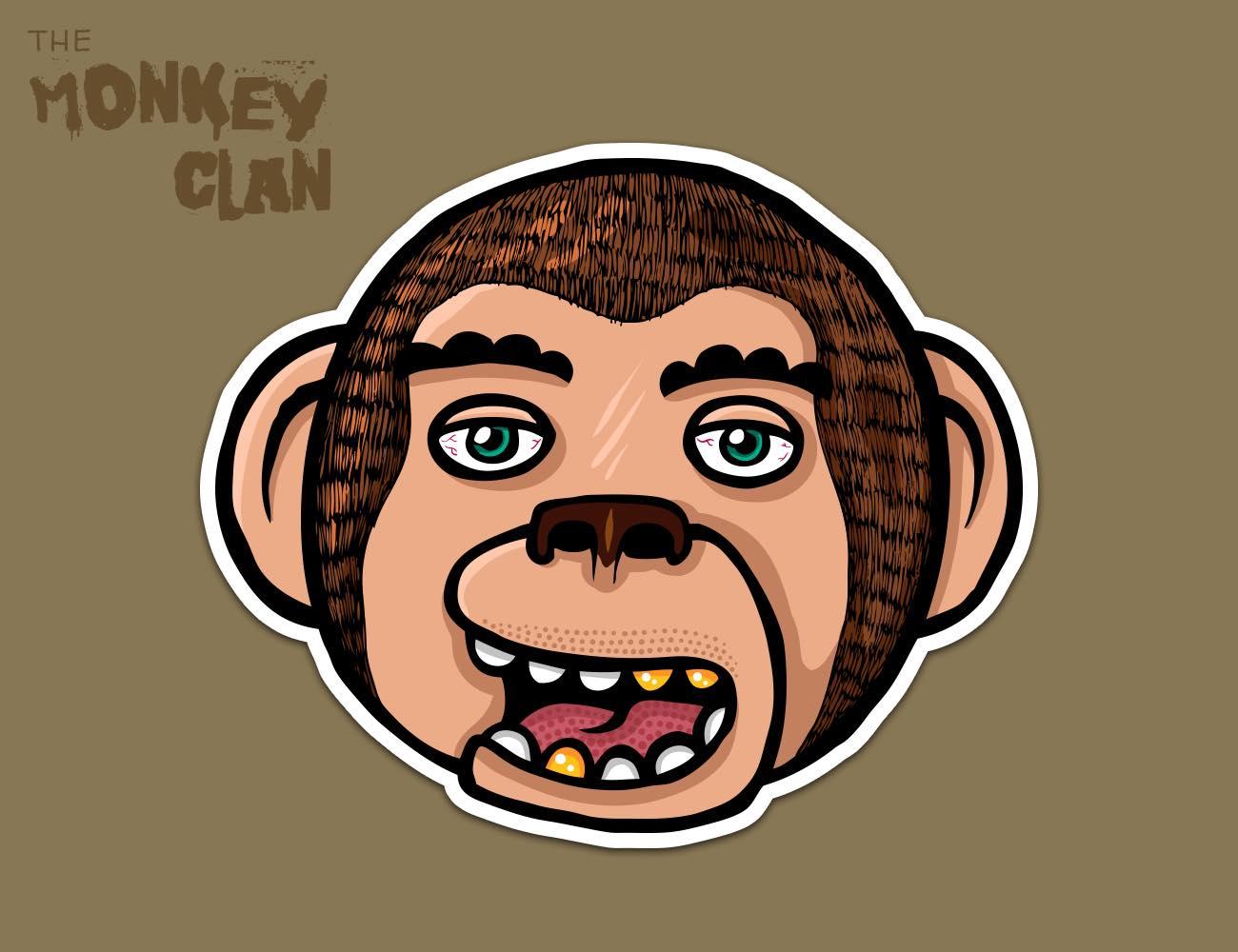 The Monkey Clan Stickers