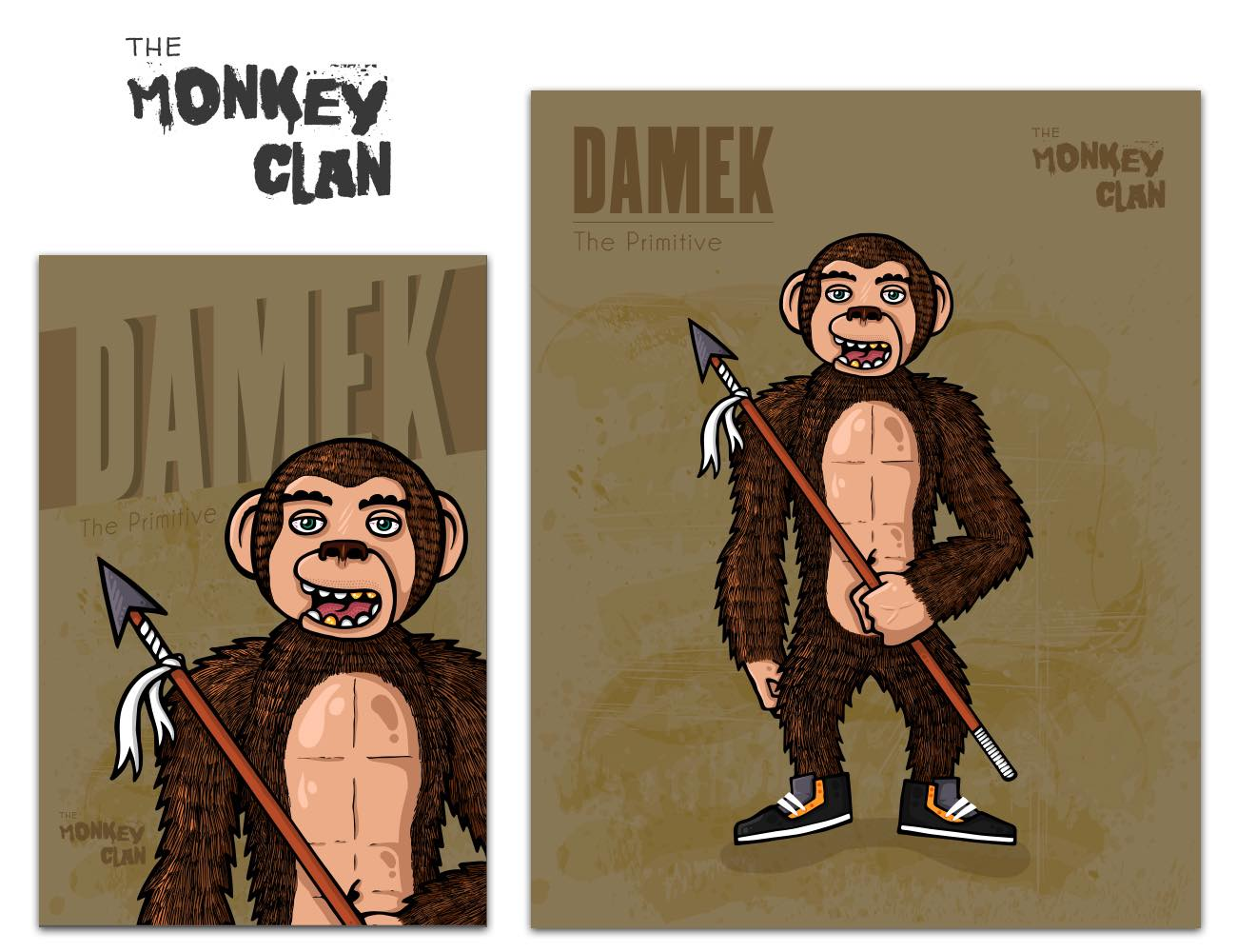 The Monkey Clan Stickers