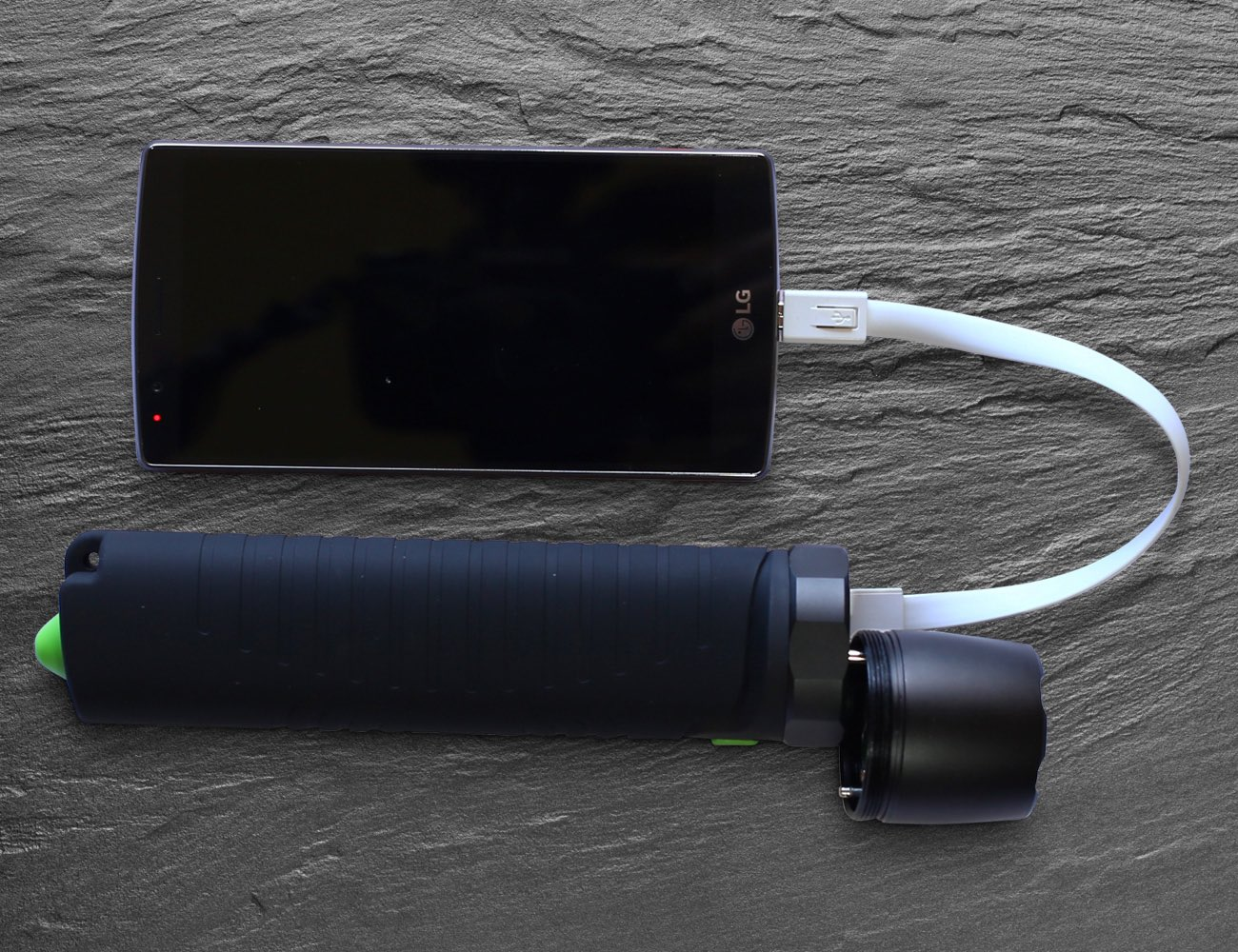 VoltTorch – Waterproof USB Battery Bank + CREE LED Flashlight