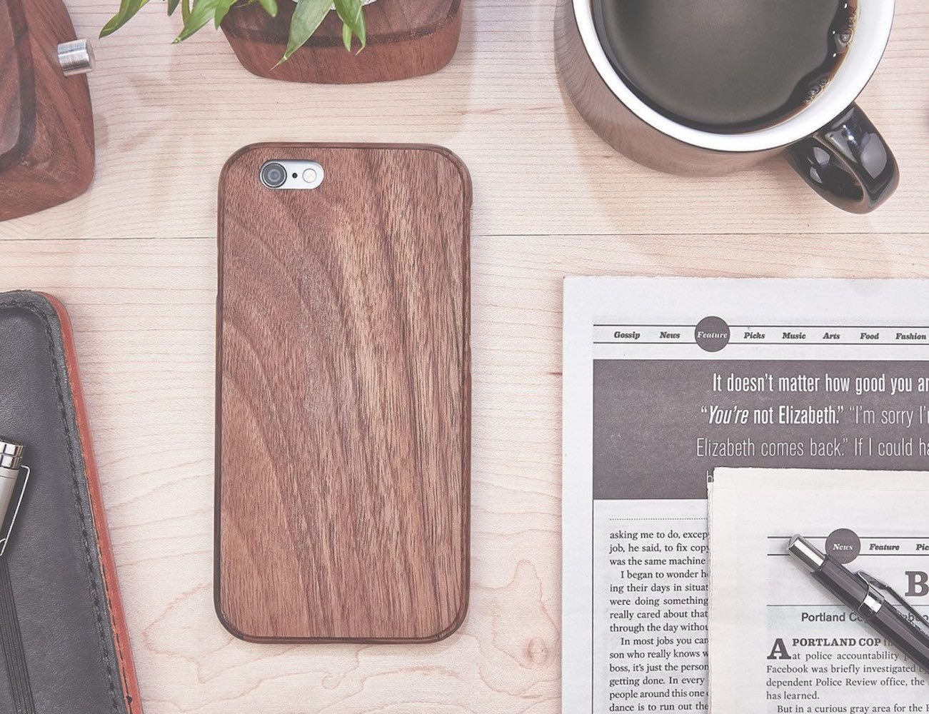 Walnut iPhone Case by Grovemade