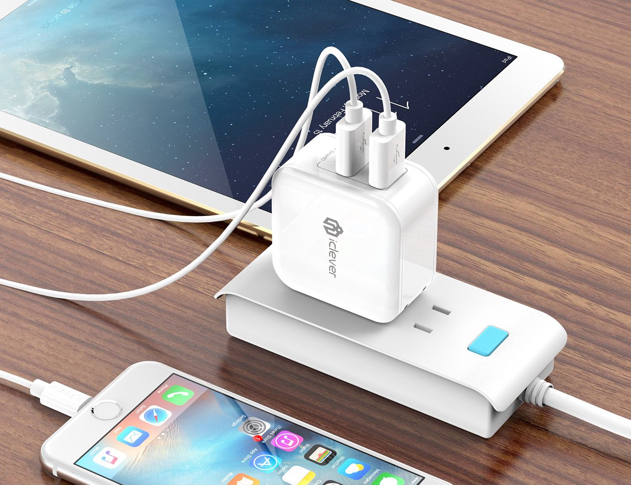 BoostCube Dual USB Wall Charger with SmartID Technology