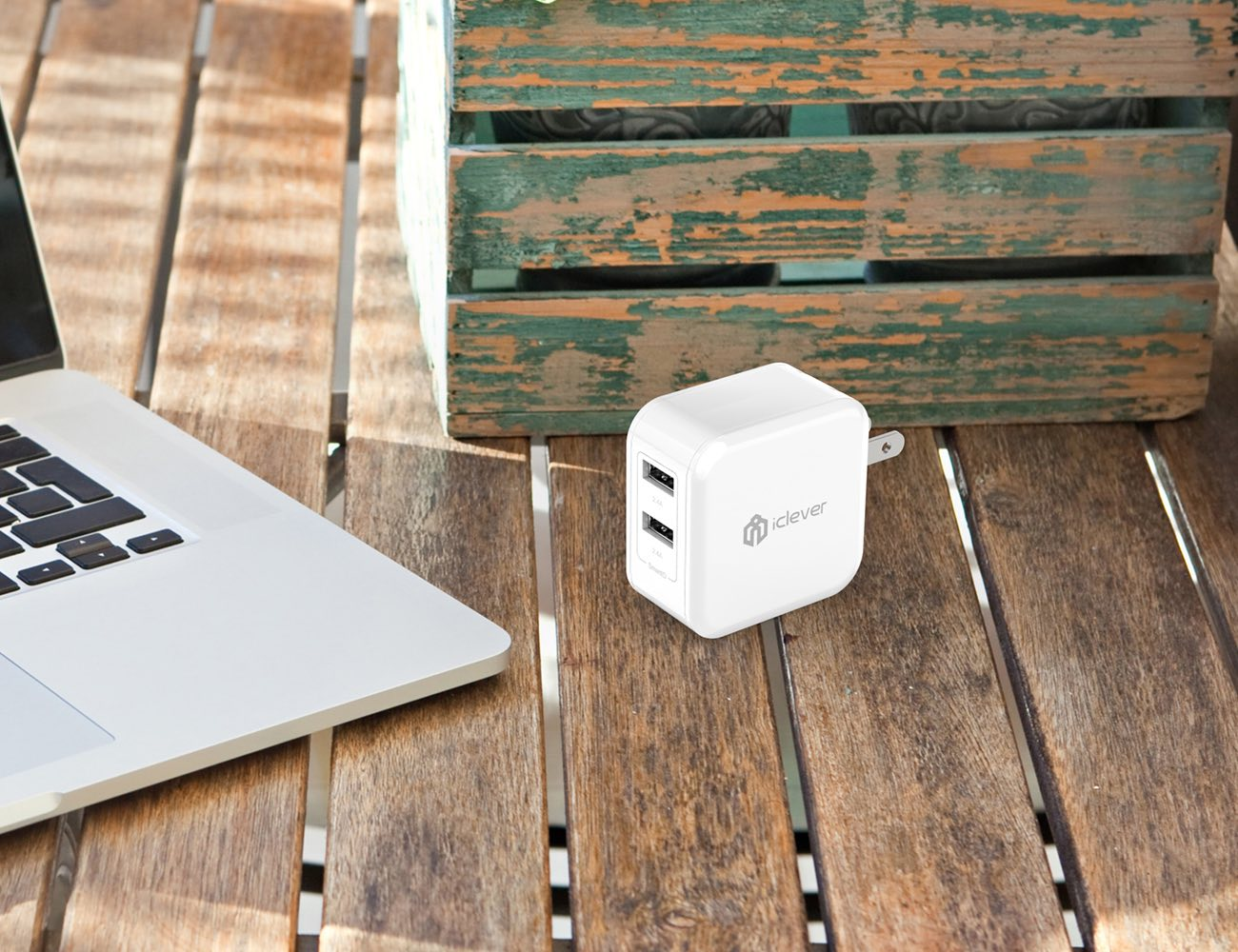 IClever+BoostCube+Dual+USB+Wall+Charger+With+SmartID+Technology