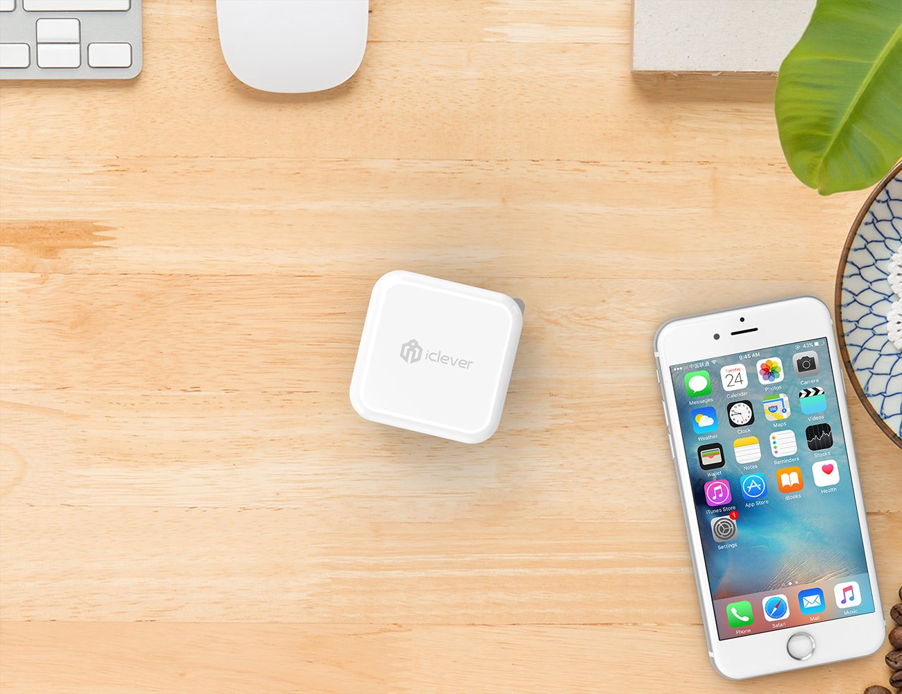 iClever BoostCube Dual USB Wall Charger with SmartID Technology