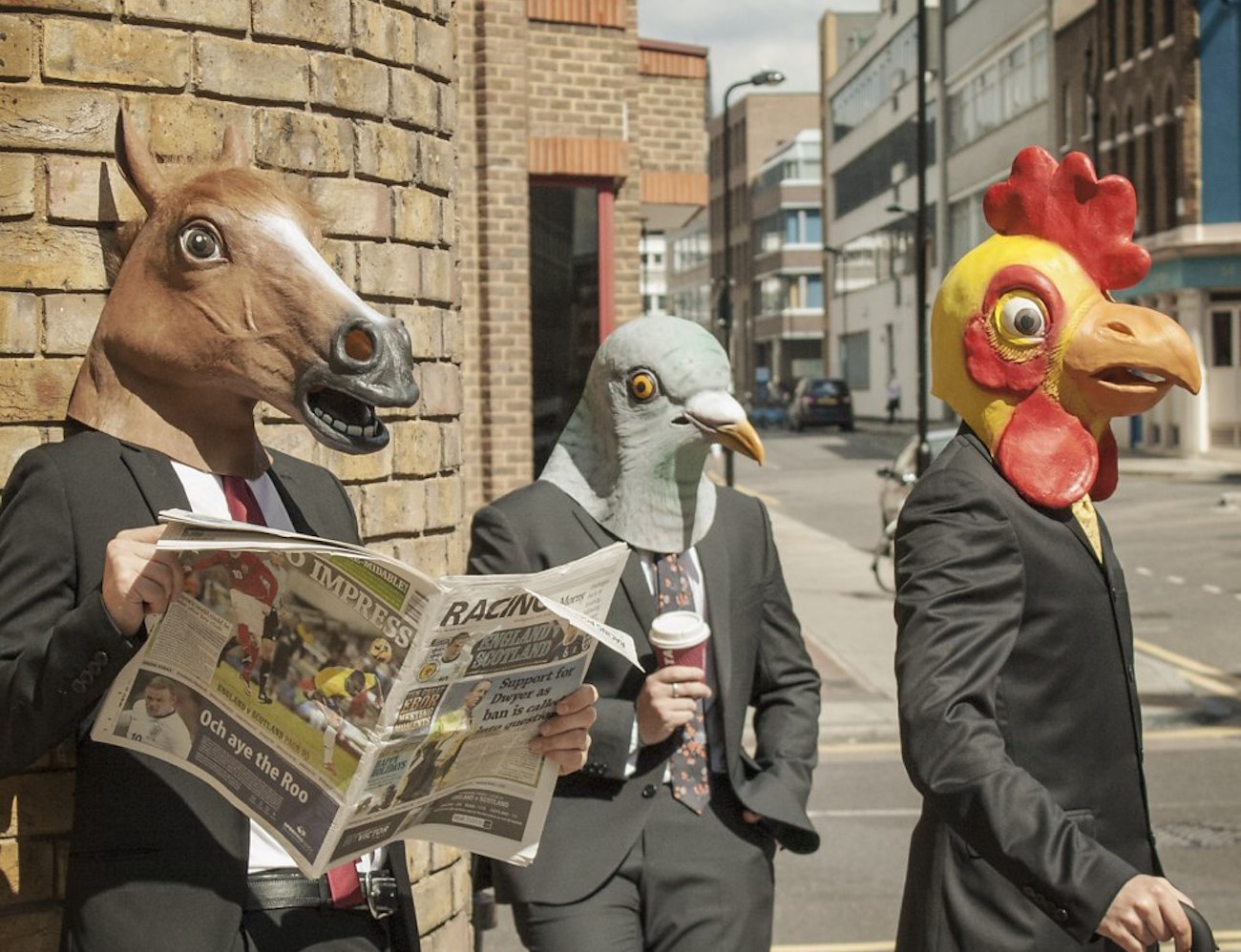 Animal Masks – Horse, Pigeon and Chicken Heads
