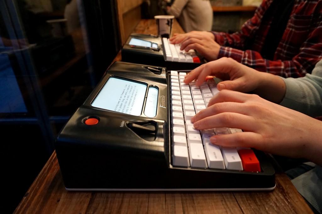 Freewrite at desk