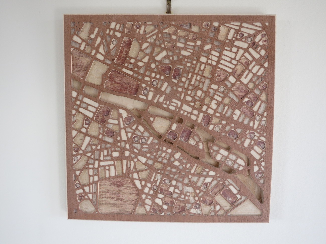 Carved 3D Wooden Street Maps