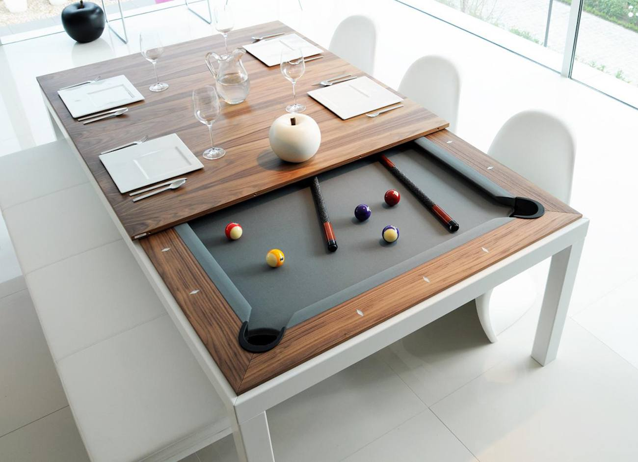 Fusion pool table and dining table gadget flow Pool dining table