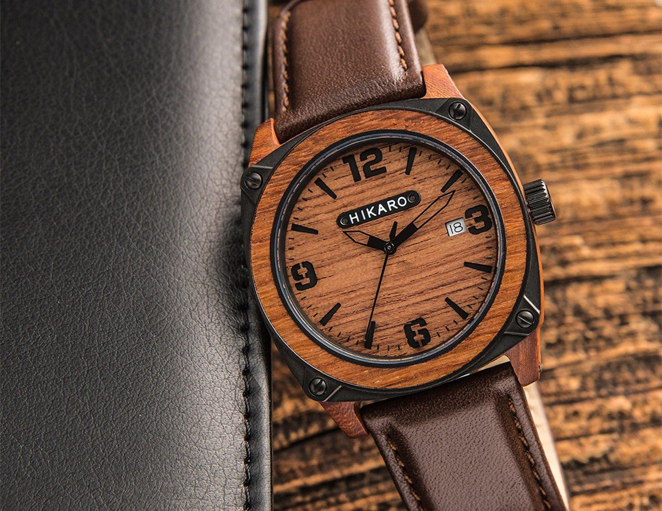 HIKARO – Modern Industrial Take on Wooden Watches