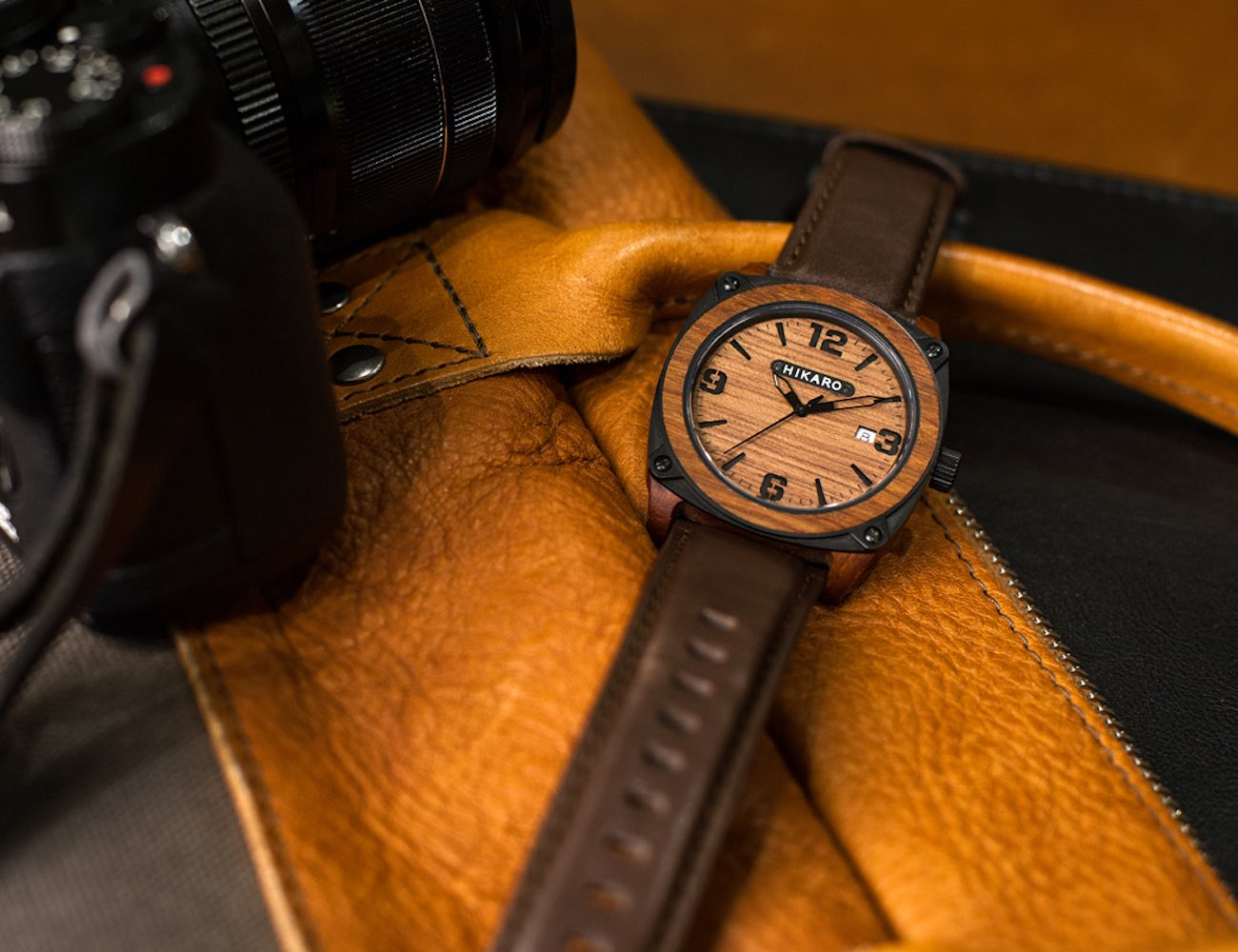 HIKARO – Modern Industrial Take on Wooden Watches