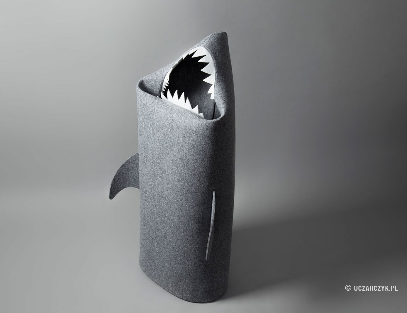 Handmade Felt Shark Laundry Basket