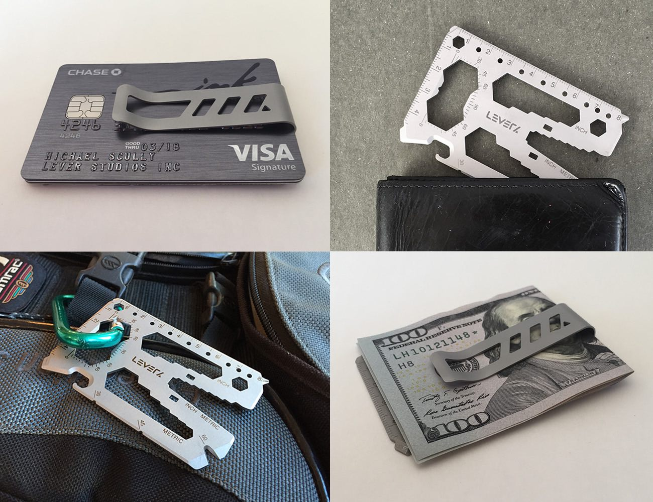 Lever Gear Toolcard – 40 Tools in your Wallet