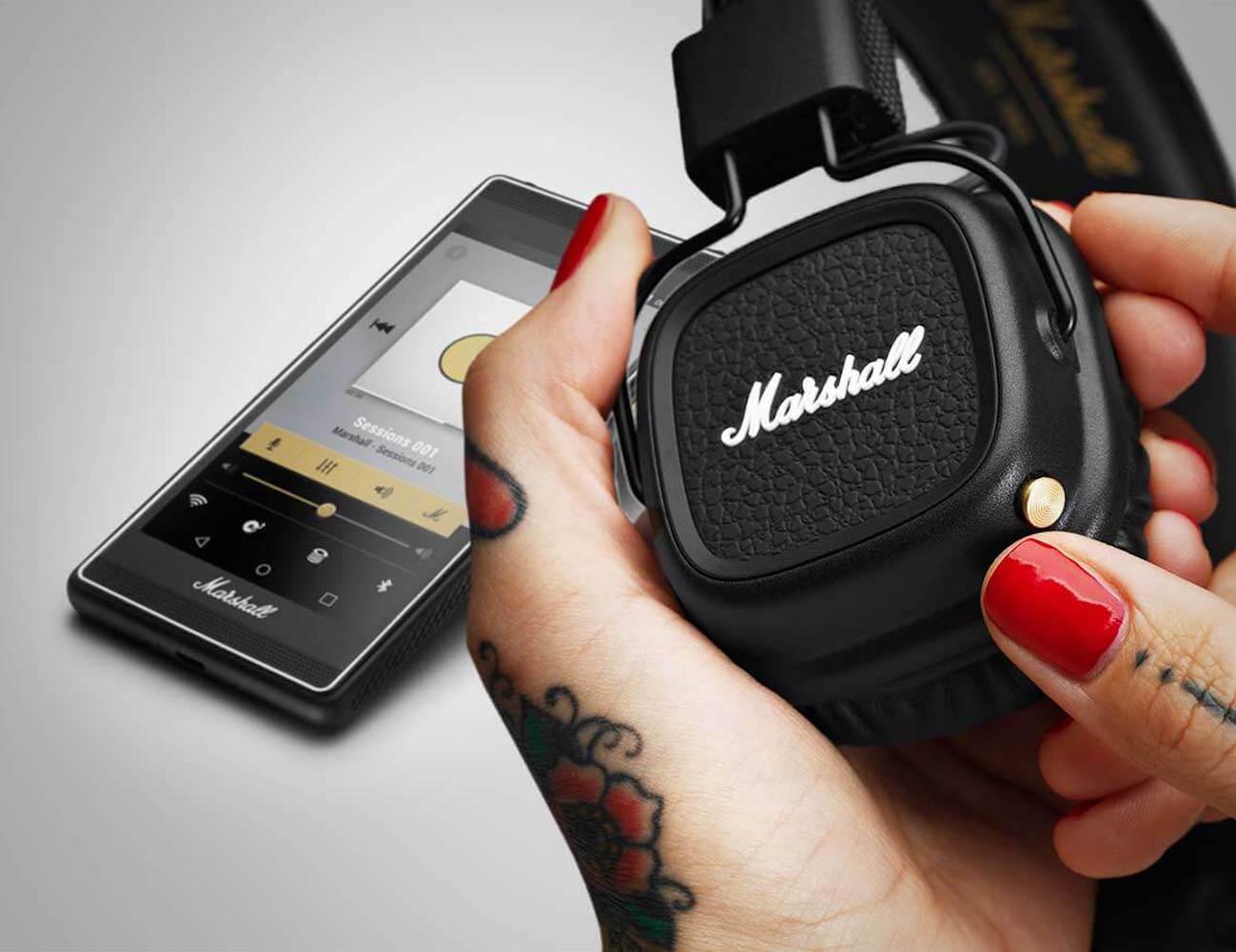 major ii bluetooth headphones by marshall gadget flow. Black Bedroom Furniture Sets. Home Design Ideas