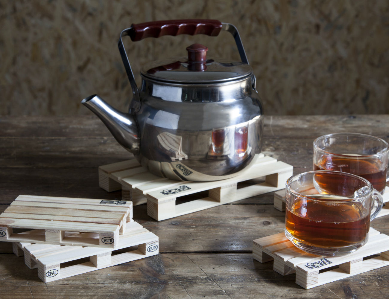 Mini Palette Trivet and Coaster Set