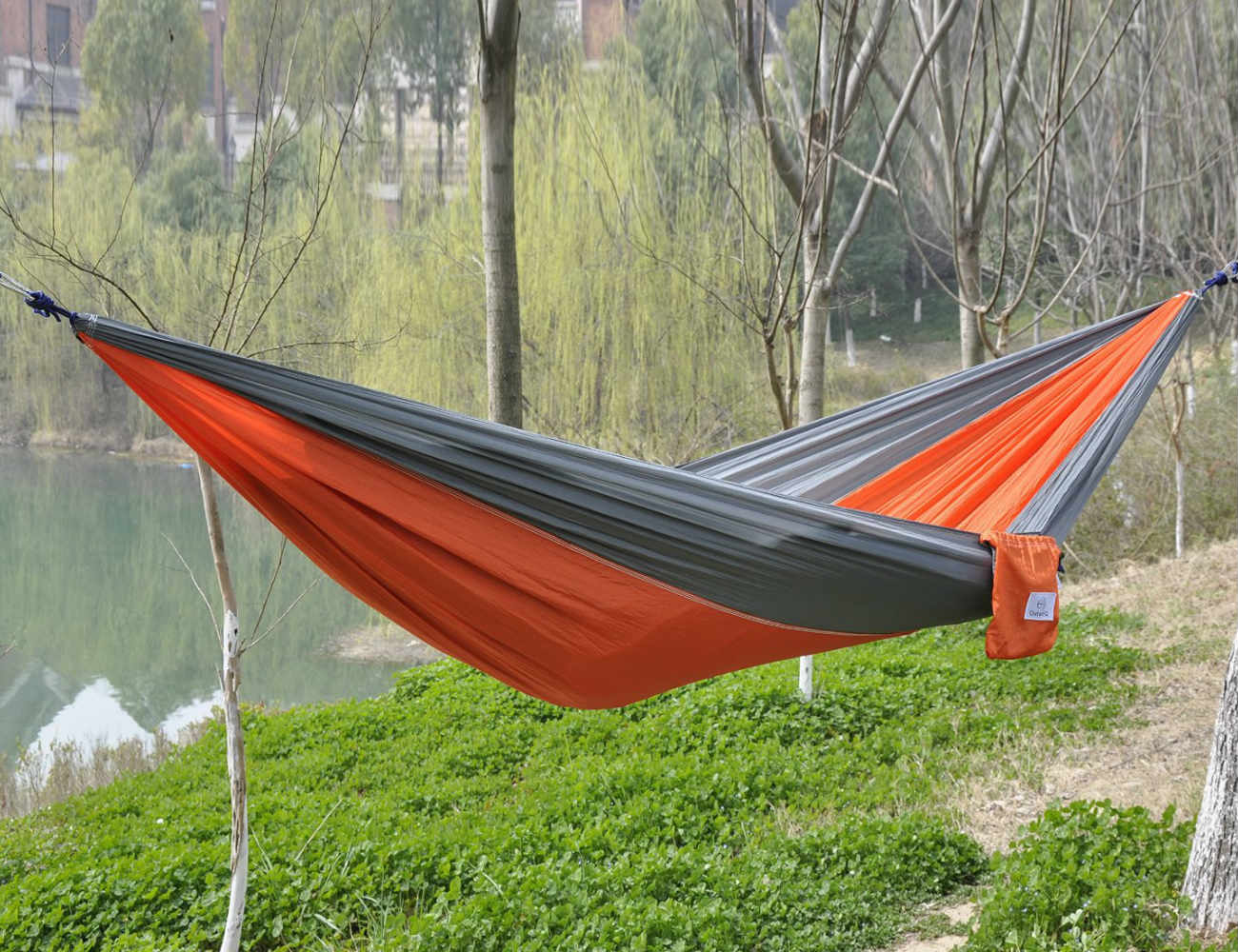 Beautiful Portable Parachute Fabric Camping Hammock By OuterEQ