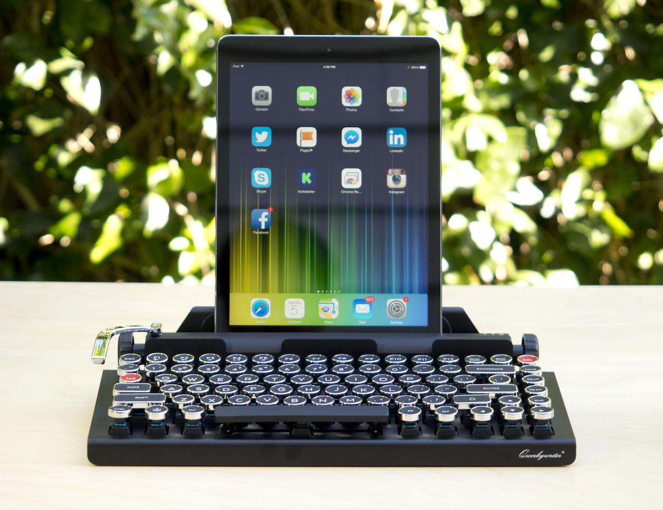 The Qwerkywriter Bluetooth Keyboard