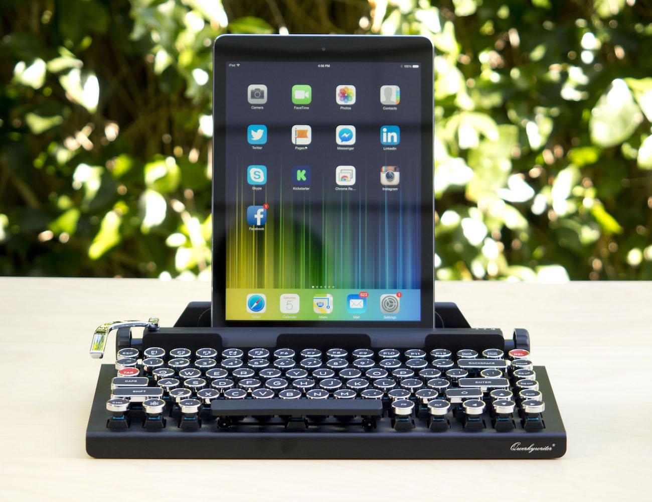 The Qwerkywriter Bluetooth Keyboard