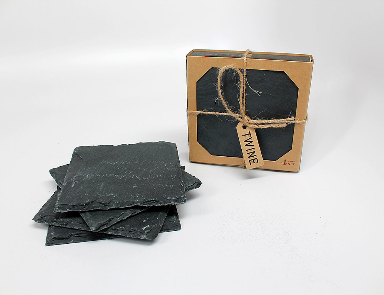 Slate Coaster Set – With Protective Backing