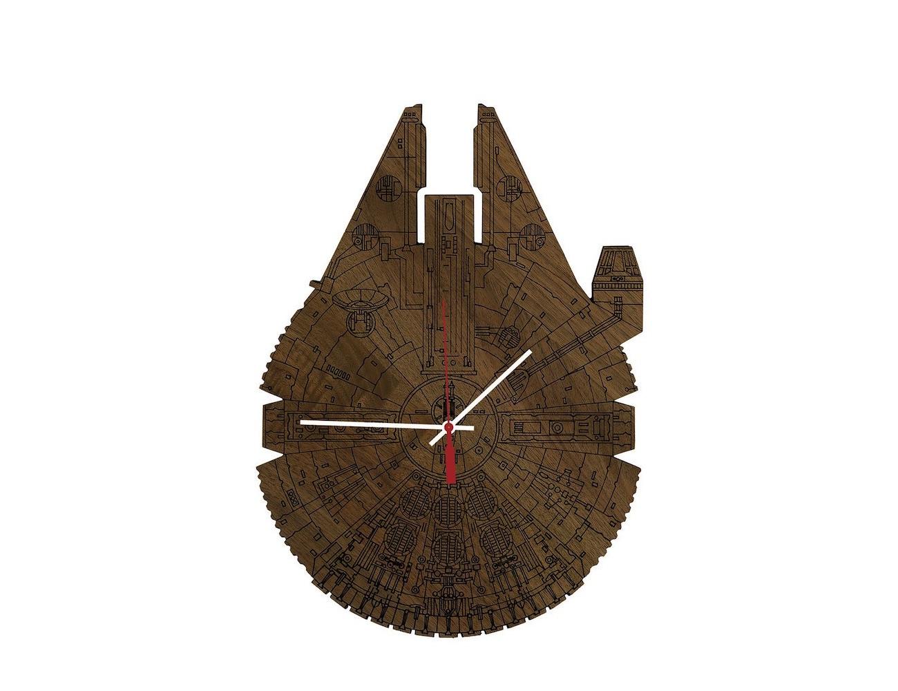 Star Wars Millennium Falcon Wood Wall Clock