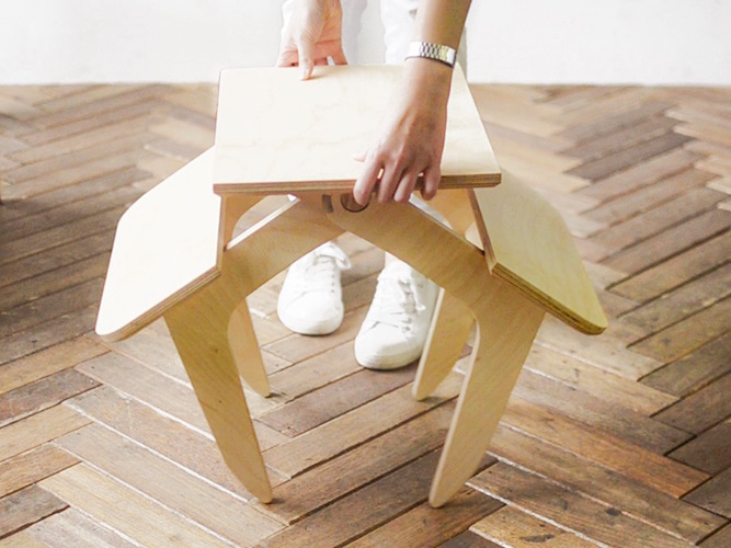 Table + Stool – Multi-Functional Furniture