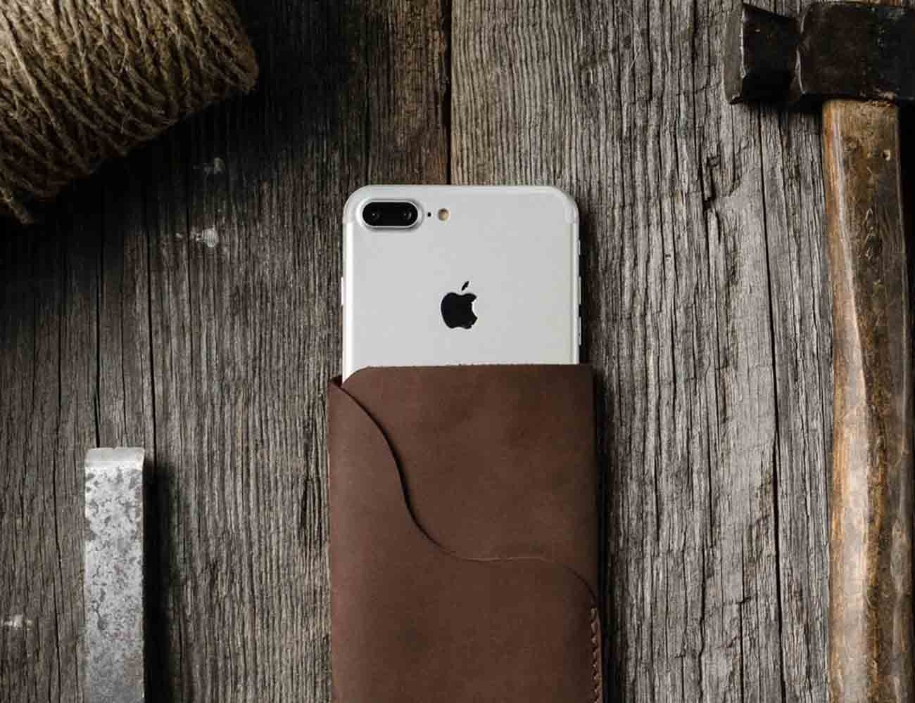 Vintage Leather iPhone Sleeve by CrazyHorse