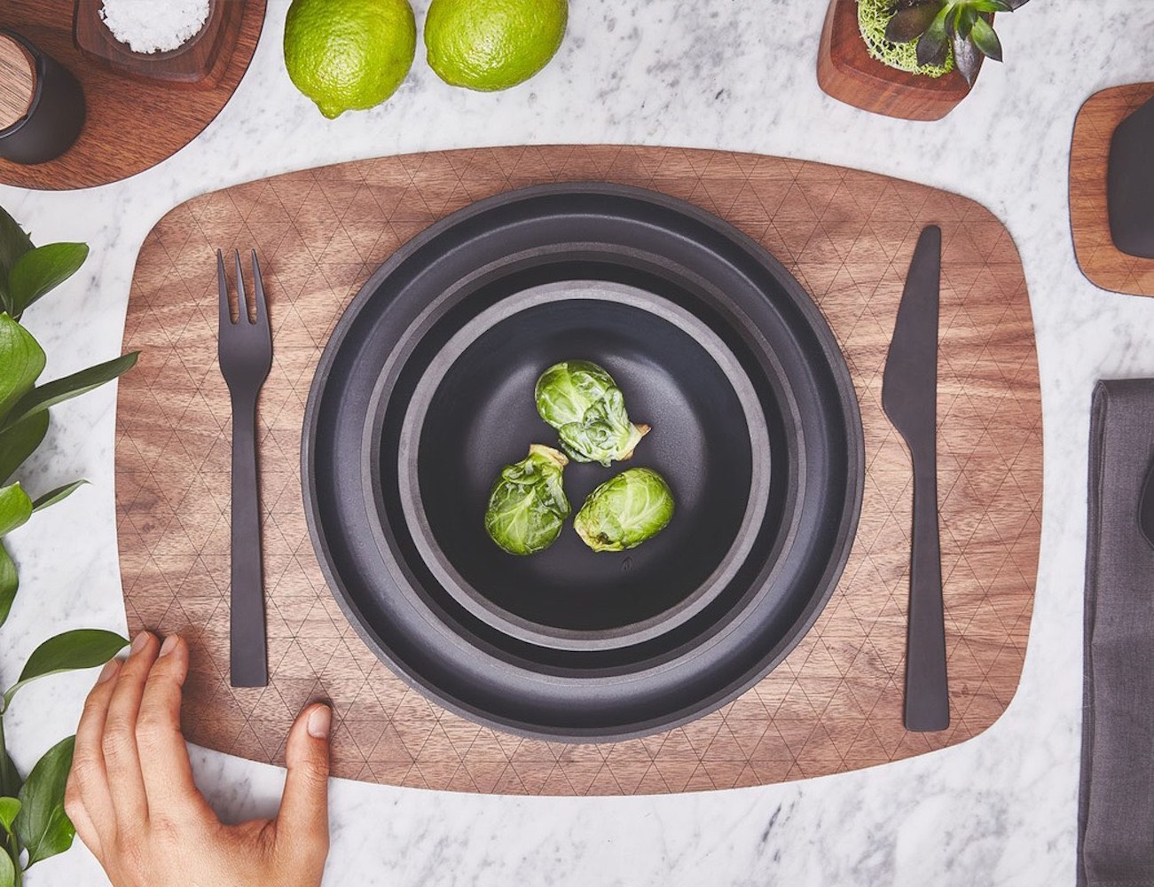 Walnut Placemat by Grovemade – With a Hand-Sanded Finish